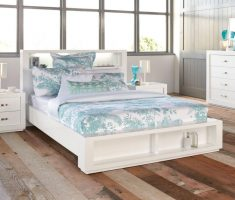 rustic modern gloss white bedroom furniture with shelve