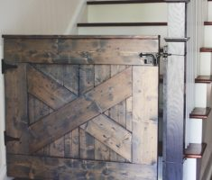 rustic wood diy baby gates for stairs