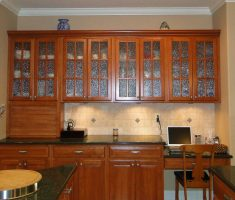 rustic wooden kitchen cabinet designs with glass