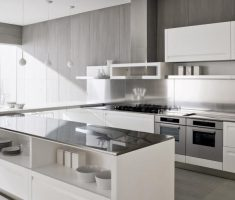 shade grey and white ultra modern kitchen