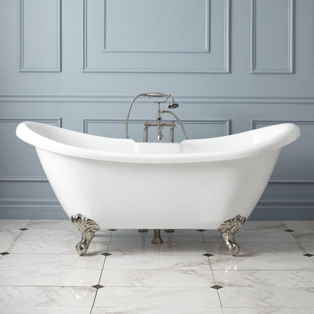 free standing claw foot tub luxurious