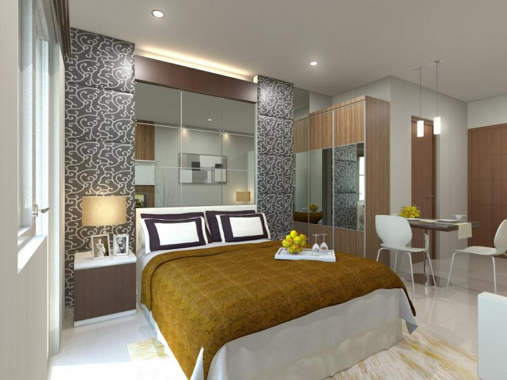 Simple interior design apartment bedroom for Design interior apartemen 1 bedroom