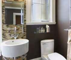 simple small bathroom remodelling with floating oval sink bathroom