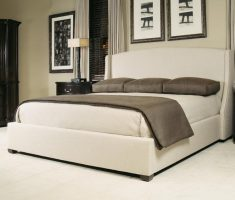 simple and modern upholstered headboard bedroom ideas