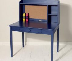 simple blue children art tables and desks with shelve and drawer