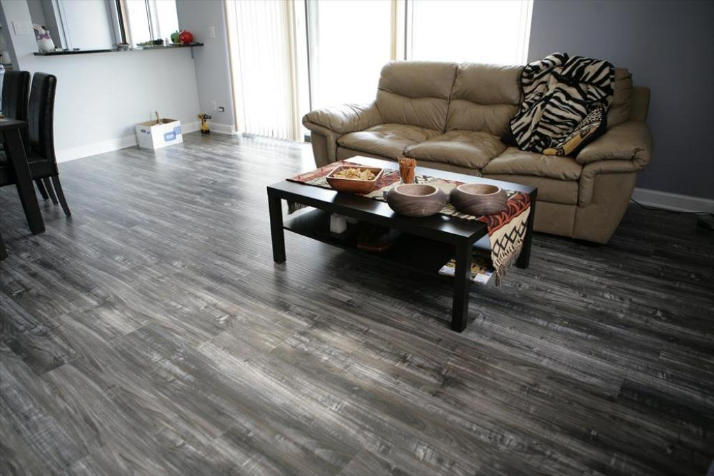 Simple Dark Grey Laminate Flooring Living Room Home