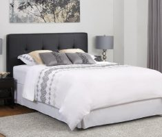 simple grey headboard bedroom ideas