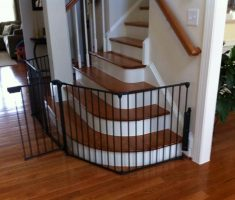 simple metal black baby gates for stairs with no walls
