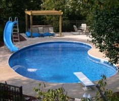 simple minimalist inground swimming pools with slides for small swimmingpool