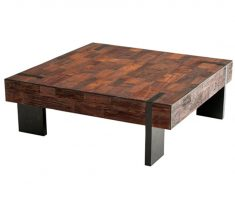 simple reclaimed recycled wood furniture for coffe table