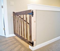 simple wooden diy baby gates for stairs
