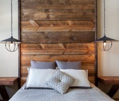 simple wooden planks headboard ideas bedroom