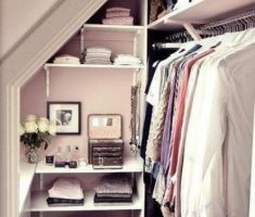 small attic storage ideas for clothes hanger