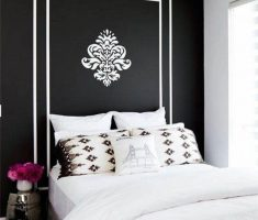 small black and white bedroom