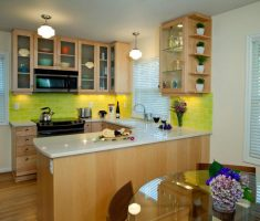 small kitchen cabinet designs with glass