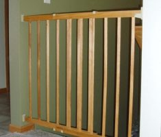 small wooden baby gates stairs minimalist