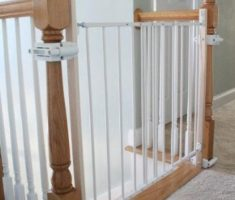 small baby gates for stairs with no walls