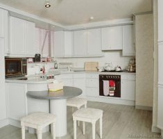 small kitchen with white theme and white cabinet kitchen design