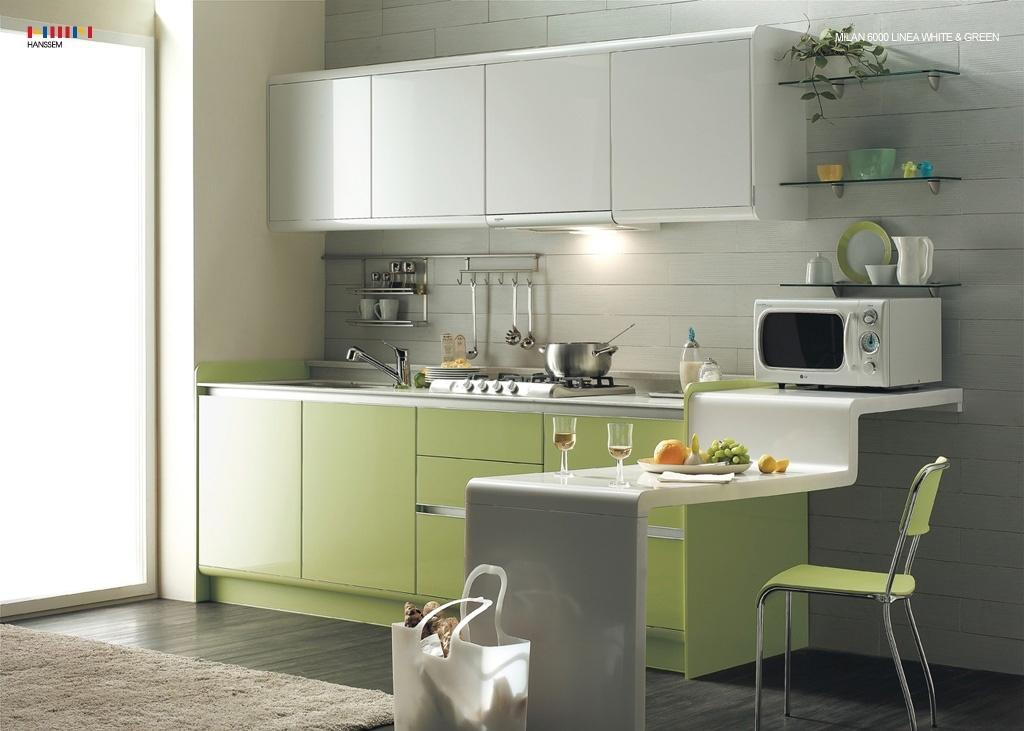 small-modern-cabinet-kitchen-design-with-green-lime-and-brown-light-theme-colors