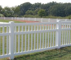 small white cheap fence panels