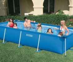 square big plastic garden pool for family