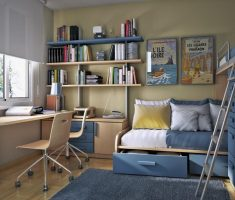 stunning-small-kids-bedroom-with-small-space-decoration-grey-theme
