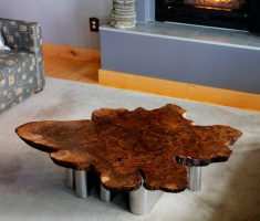stylish reclaimed recycled wood furniture for coffee table