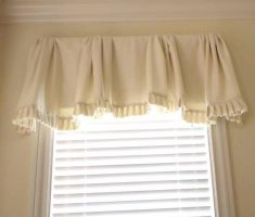 sweet white diy valances window treatments