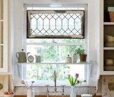 tiny cute kitchen window treatment ideas with meta wire