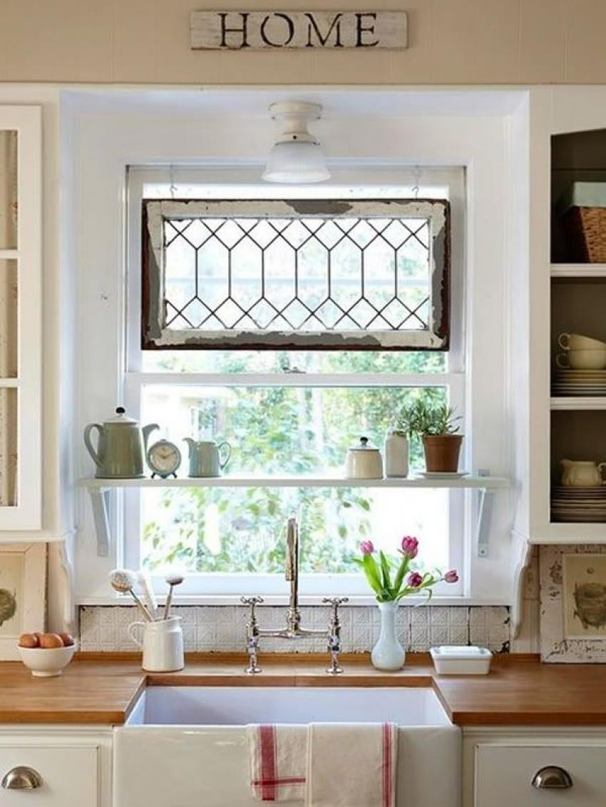 Tinycutekitchenwindowtreatmentideaswithmetawire  Home - Kitchen window treatment ideas