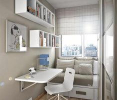 tiny home office small space decoration