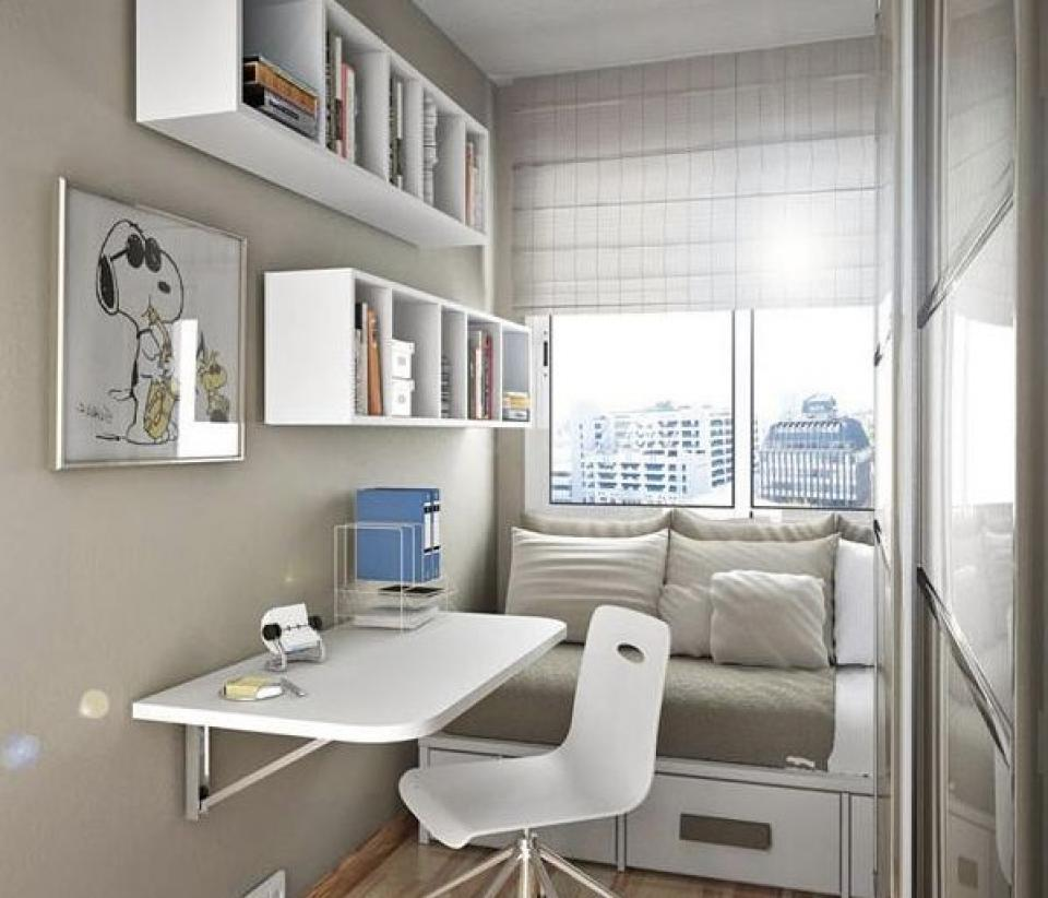 Tiny home office small space decoration home inspiring - Small space offices pict ...