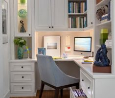 tiny small corner home office for small space decoration