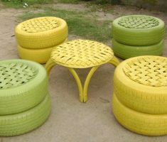 tire furniture set diy recycled furniture ideas