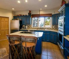 traditional blue mexican kitchen interior design with blue mexican kitchen cabinet furniture