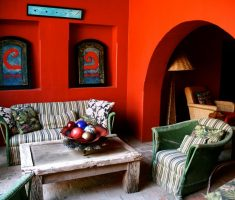 traditional mexican interior design living room for small space