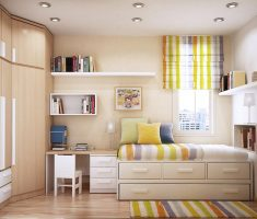 tranquil small space decoration for kids bedroom