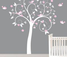 tree and birds wall stickers girls bedrooms