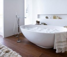 trendy freestanding bathtubs with shower ceramic materials