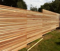 trendy wood horizontal style for cheap fence panels