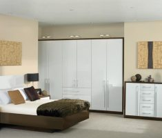 ultra hight gloss white bedroom furniture with floating bed