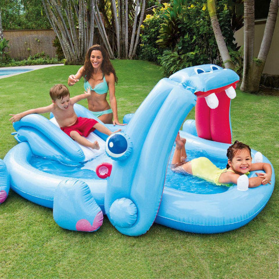 Unique and cute plastic garden pool for baby and kids with for Baby garden pool