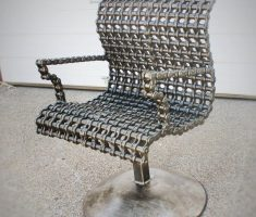 unique chair from recycled metal furniture