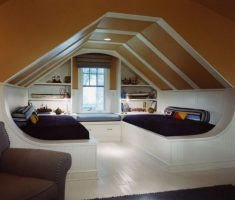 unique modern attic storage ideas for bedroom