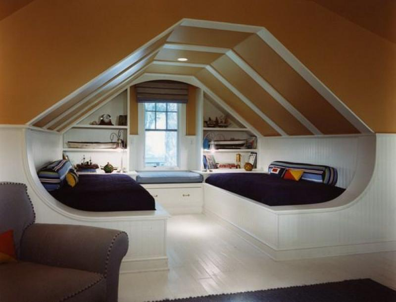 Unique modern attic storage ideas for bedroom - Cool shelving ideas for bedrooms ...
