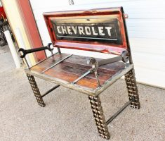 unique recycled metal furniture for chair