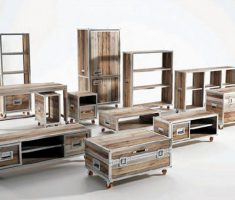 various reclaimed recycled wood furniture ideas and design