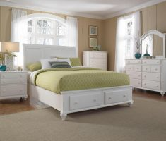 white broyhill bedroom furniture with drawer storage bed