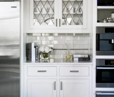 white kitchen cabinet designs with glass