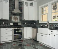 white and grey kitchen remodelling